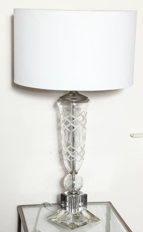 pair of cut crystal waterford style table lamps for sale at 1stdibs. Black Bedroom Furniture Sets. Home Design Ideas