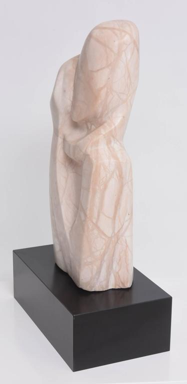Marble Sculpture, Mother and Child Embracing, Beatrice Eiges, American  For Sale 1