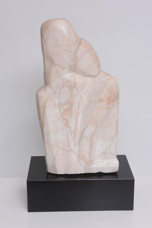 Marble Sculpture, Mother and Child Embracing, Beatrice Eiges, American  For Sale 2