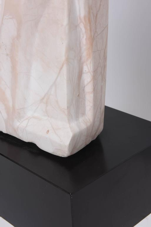 Marble Sculpture, Mother and Child Embracing, Beatrice Eiges, American  For Sale 4