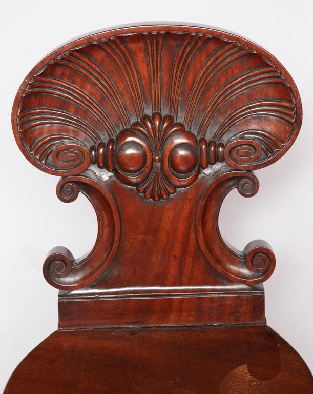British Regency Hall Chair by Gillows of Lancaster For Sale