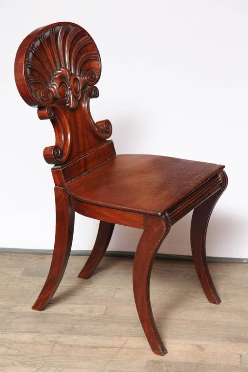 19th Century Regency Hall Chair by Gillows of Lancaster For Sale