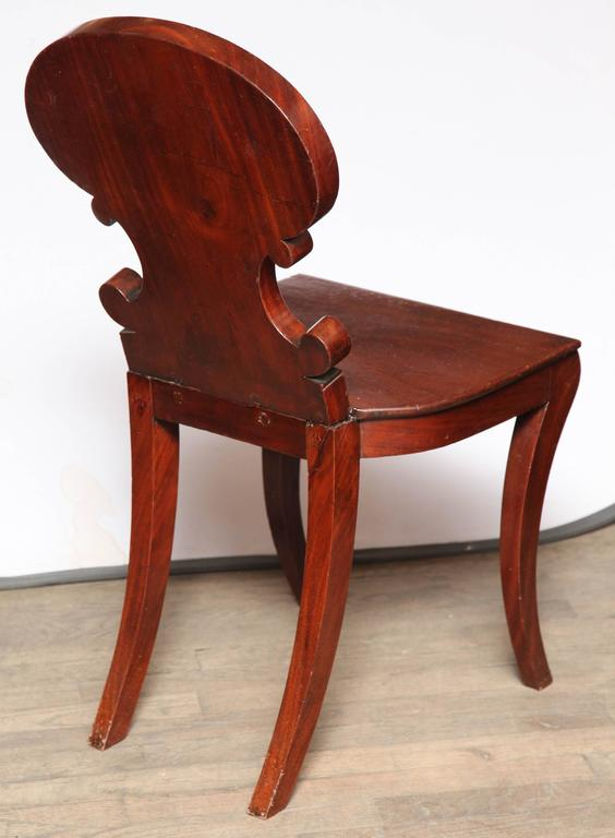 Regency Hall Chair by Gillows of Lancaster For Sale 2