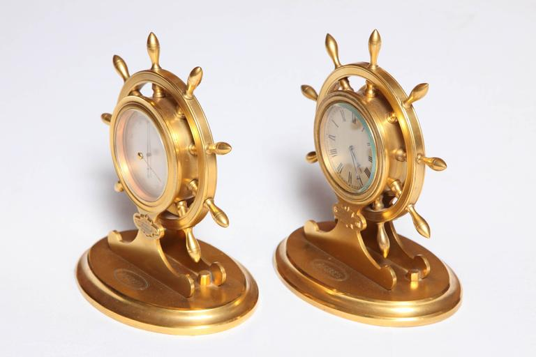 British Trussel of Brighton Clock and Barometer For Sale