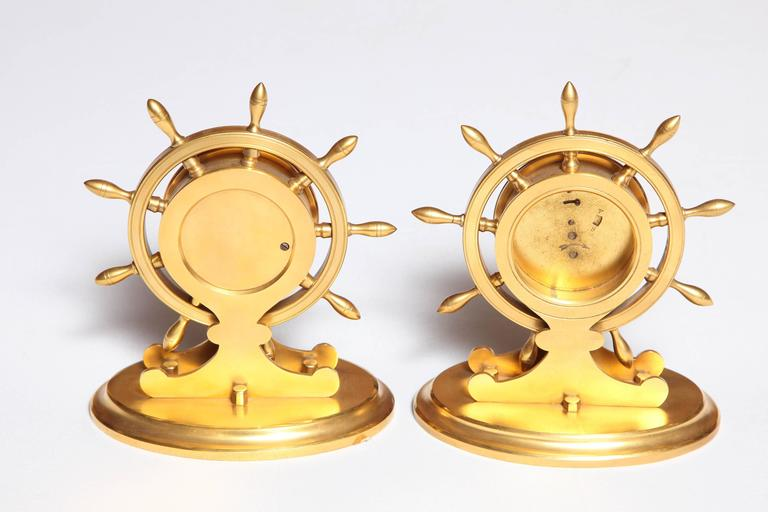 Brass Trussel of Brighton Clock and Barometer For Sale