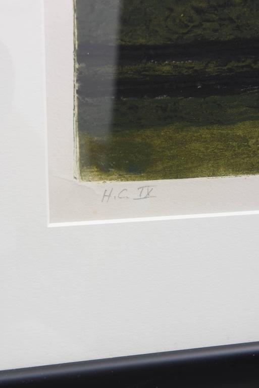 Mid-Century Modern Signed Artist Proof Lithograph by Henri Goetz, France, 1960s In Good Condition For Sale In West Palm Beach, FL