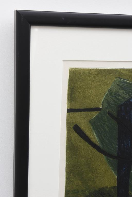 Mid-Century Modern Signed Artist Proof Lithograph by Henri Goetz, France, 1960s For Sale 1