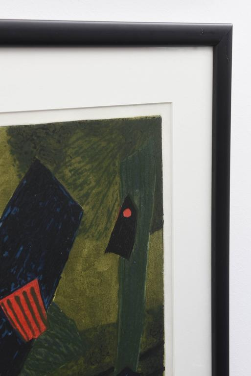 Mid-Century Modern Signed Artist Proof Lithograph by Henri Goetz, France, 1960s For Sale 2