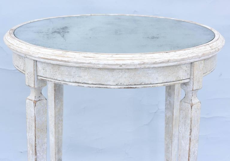 20th Century Painted Occasional Table with Mirrored Top For Sale