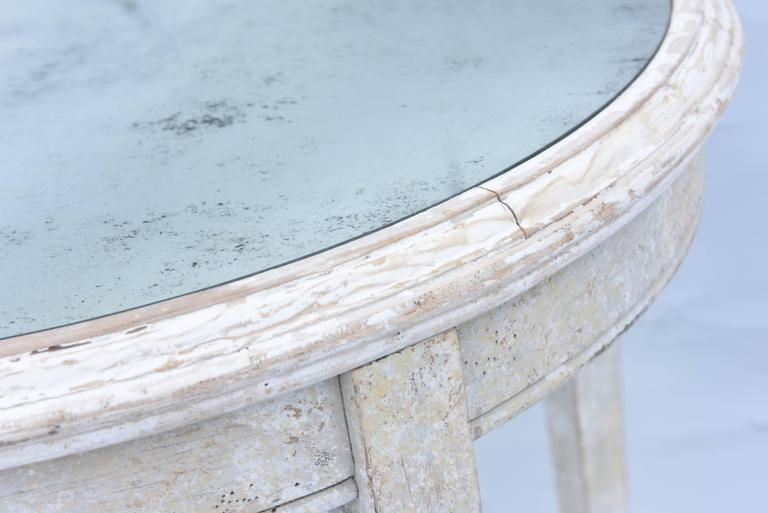 Painted Occasional Table with Mirrored Top For Sale 1