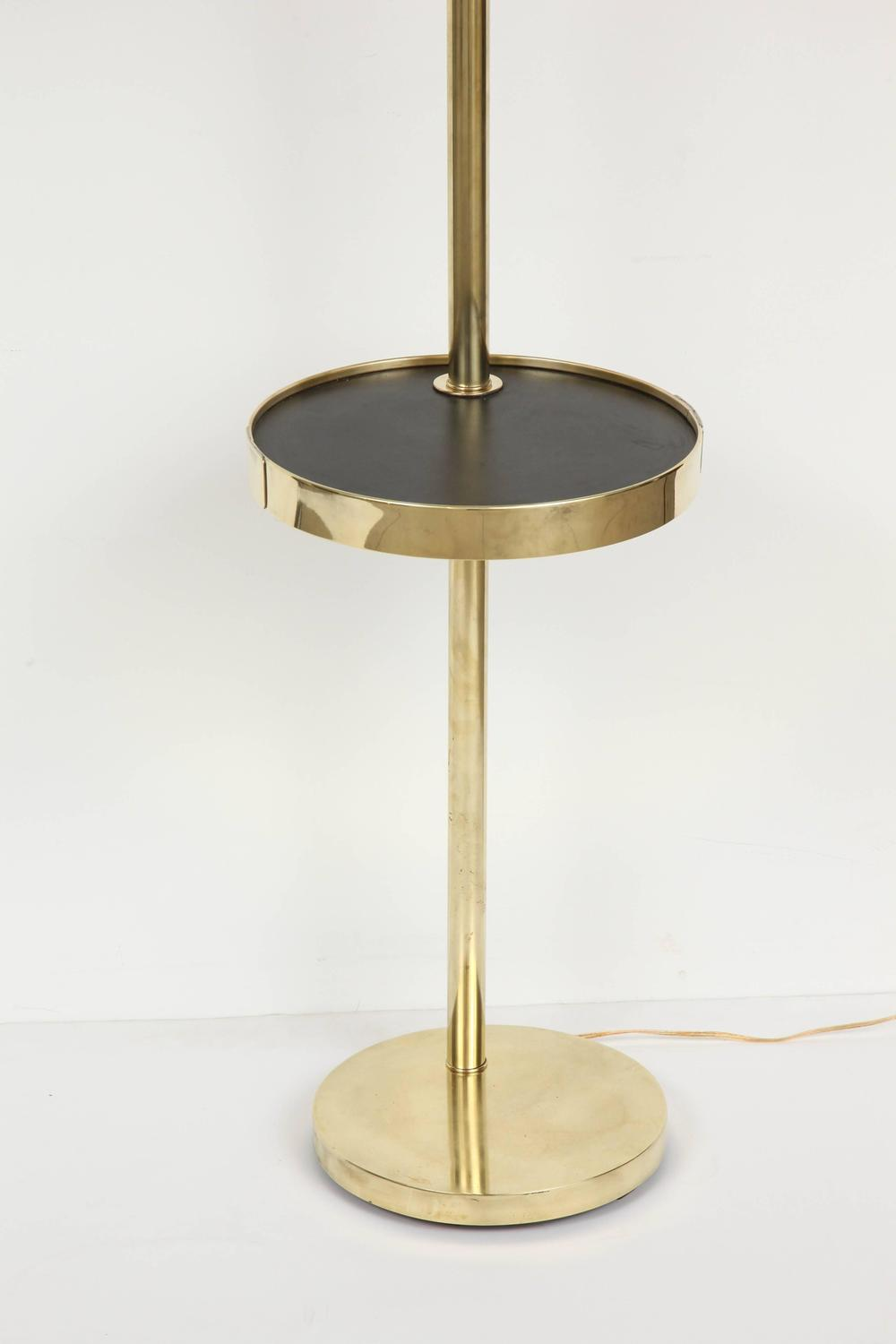 brass floor lamp with table at 1stdibs. Black Bedroom Furniture Sets. Home Design Ideas