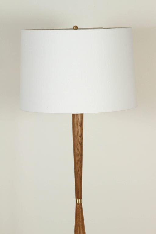 El Monte lamp by Lawson-Fenning in oak. Available to order in different finishes with a 10-12 week lead time.