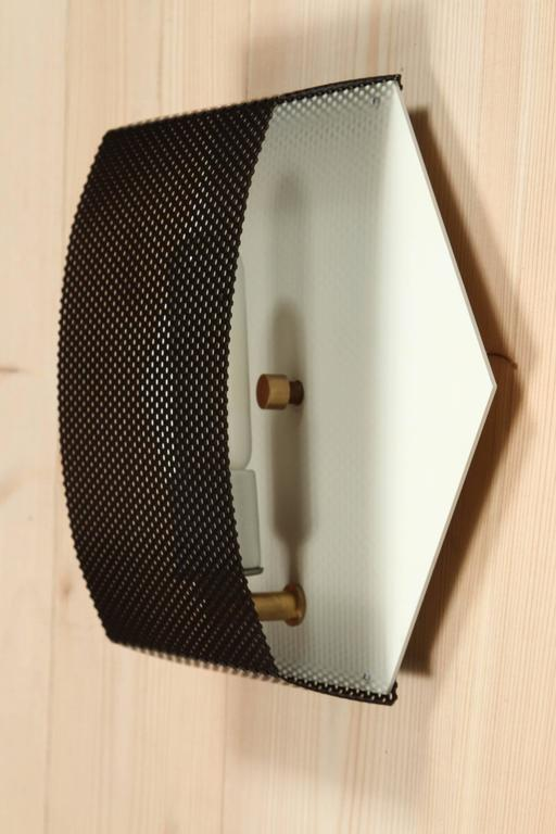 Mid-Century Modern Perforated Hex Sconce by Lawson-Fenning For Sale