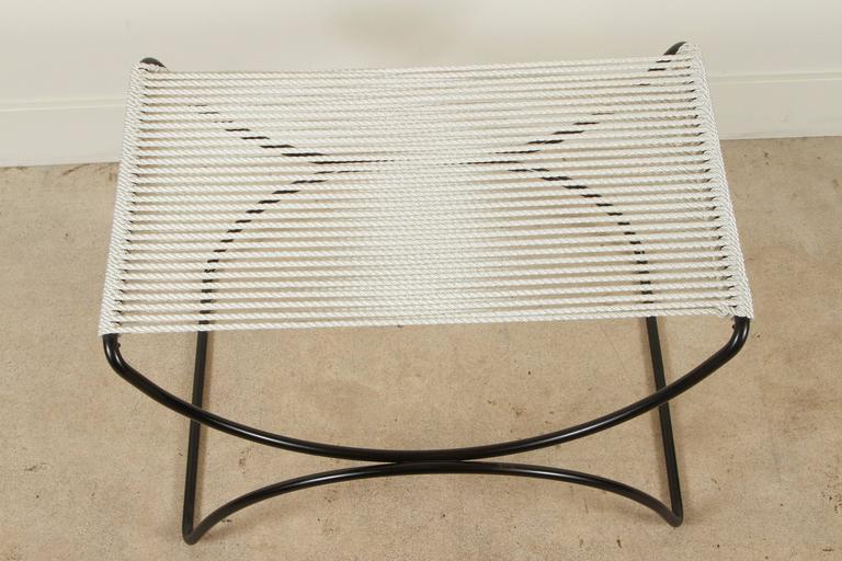 American Rope Indoor/Outdoor Pompeii Stool by Ten10 For Sale