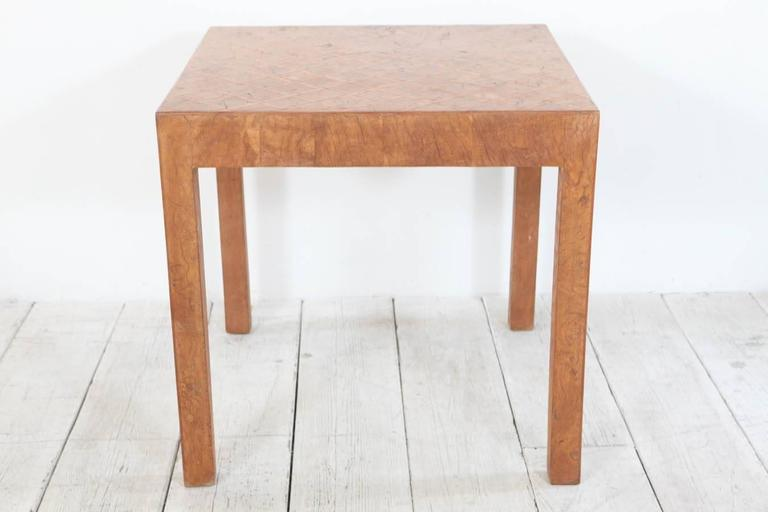 Tall Square Side Table in Burl Marquetry Finish at 1stdibs : IMG0971l from www.1stdibs.com size 768 x 512 jpeg 27kB