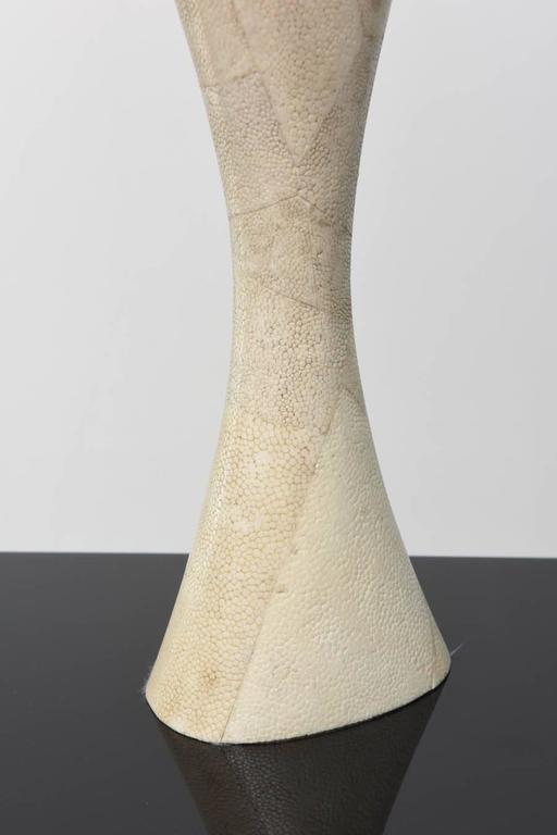Italian Modern Shagreen Vase, R and Y Augousti In Excellent Condition For Sale In Miami, FL