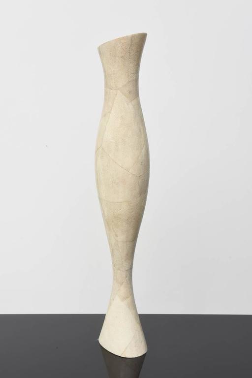 Late 20th Century Italian Modern Shagreen Vase, R and Y Augousti For Sale