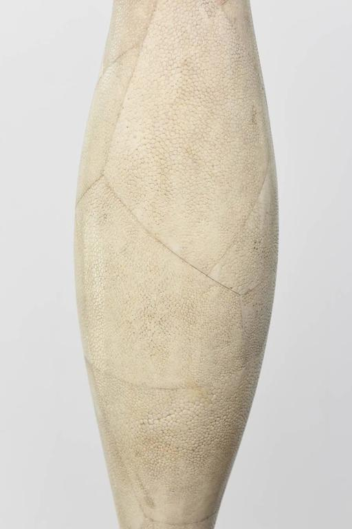 Italian Modern Shagreen Vase, R and Y Augousti For Sale 1