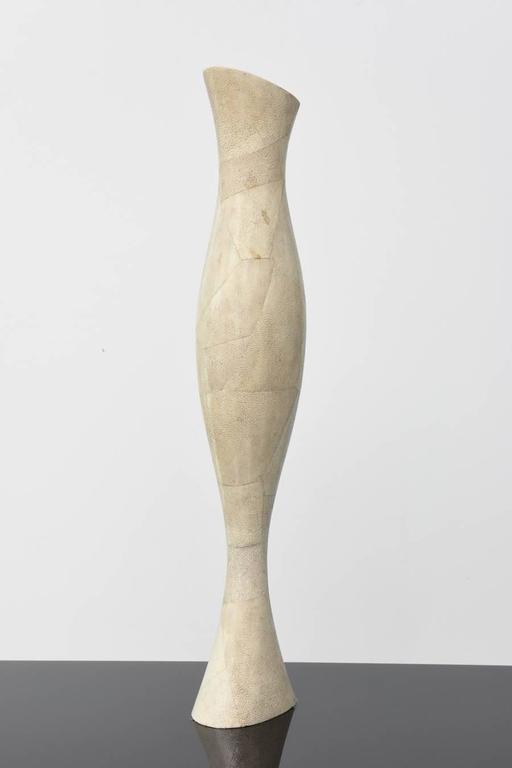 Italian Modern Shagreen Vase, R and Y Augousti For Sale 3