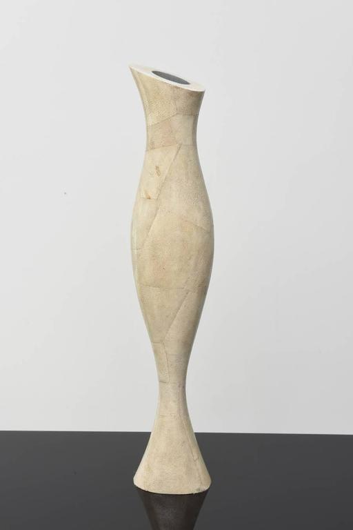 Italian Modern Shagreen Vase, R and Y Augousti For Sale 4