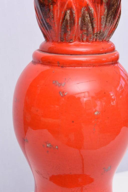 Monumental Ceramic Table Lamp, 1960s, USA For Sale 3