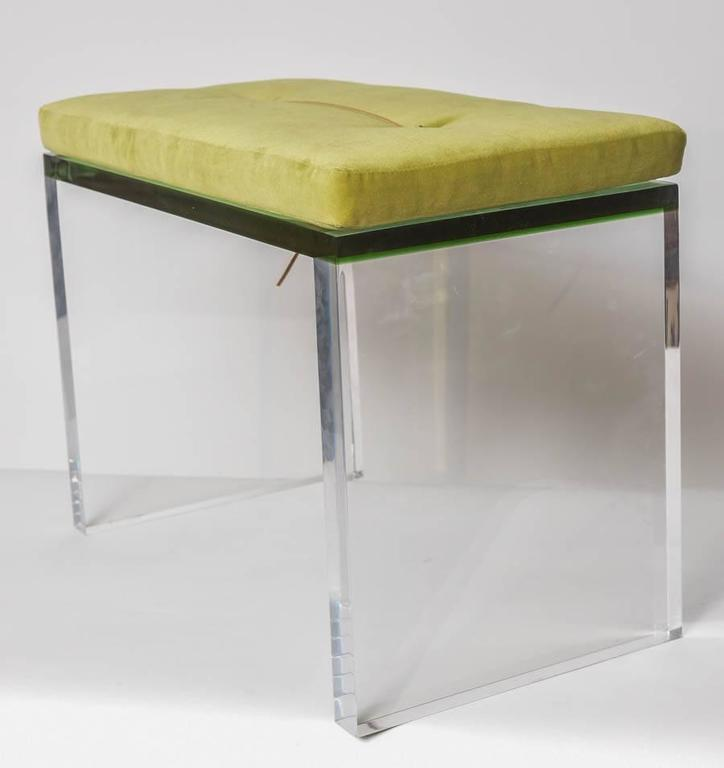 Modern Green And Clear Lucite Bench At 1stdibs