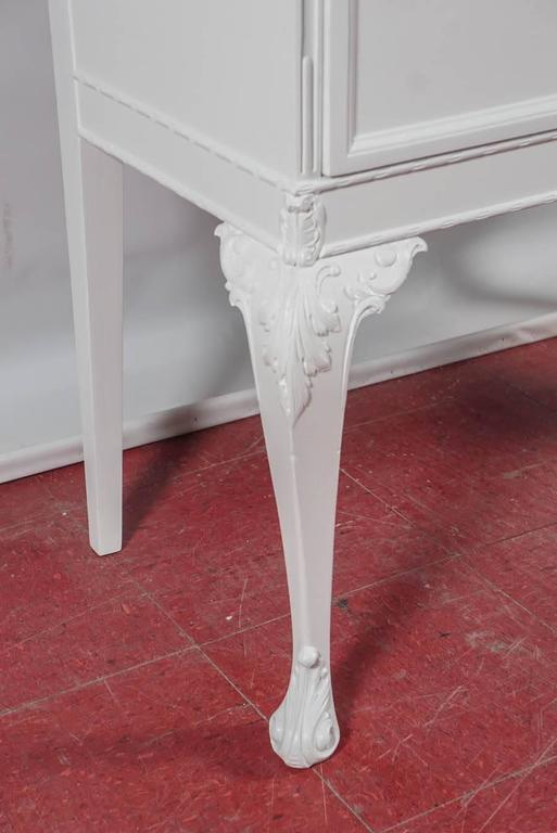 Cast Chippendale-Style China Cabinet For Sale