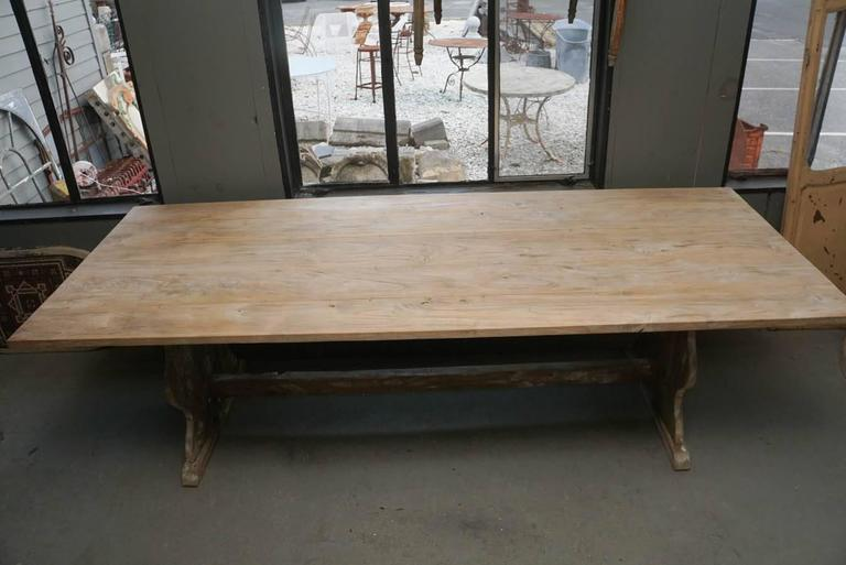 Unknown Rustic Country Farm Table For Sale