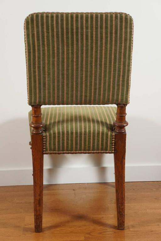Green Striped Vintage Chair At 1stdibs