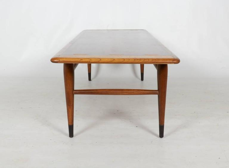 Modernist Walnut Coffee Table By Lane For Sale At 1stdibs