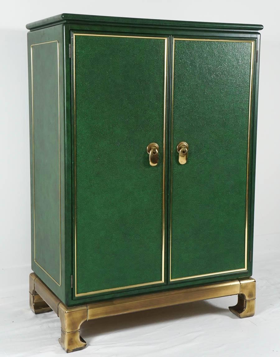 Wonderful Mastercraft Furniture Emerald Green Media Cabinet, Wardrobe, Cabinet at 1stdibs
