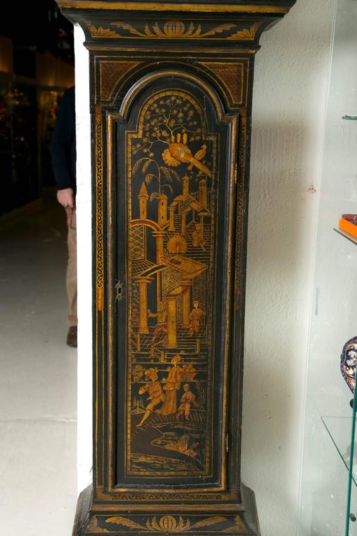 Black Chinoiserie Grandfather Clock For Sale At 1stDibs