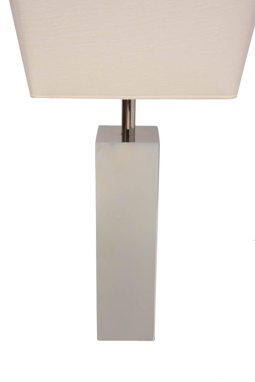 Steel Pair of Table Lamps by Reggiani For Sale