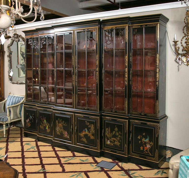 George Iii Style Chinoiserie Decorated Black Japanned