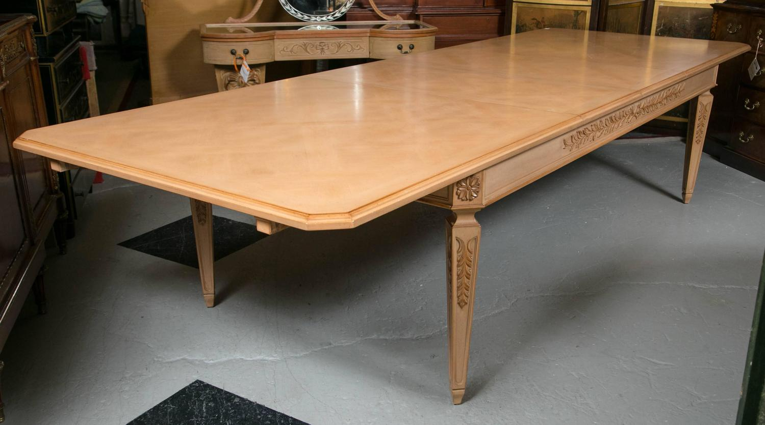 Monumental Louis XVI Style Blonde Wood Dining Table For  : IMG0842z from www.1stdibs.com size 1500 x 835 jpeg 109kB