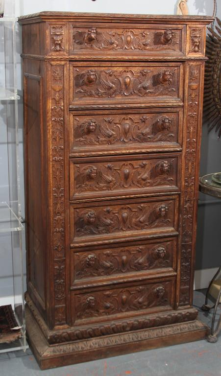 Hand-Carved Highboy or Chest 2