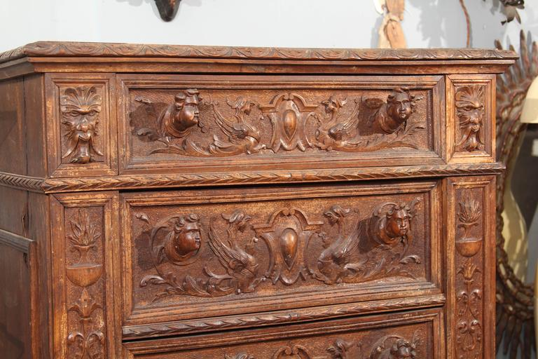 Hand-Carved Highboy or Chest 3
