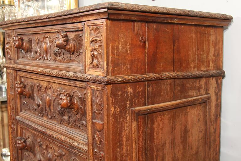 Hand-Carved Highboy or Chest 8