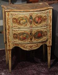 Small Pair Painted Italian Chests