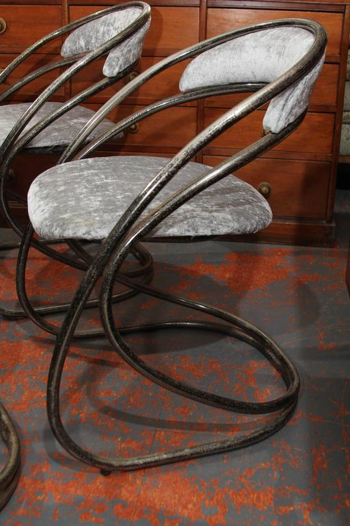 20th Century Set of Four French Casino Chairs For Sale