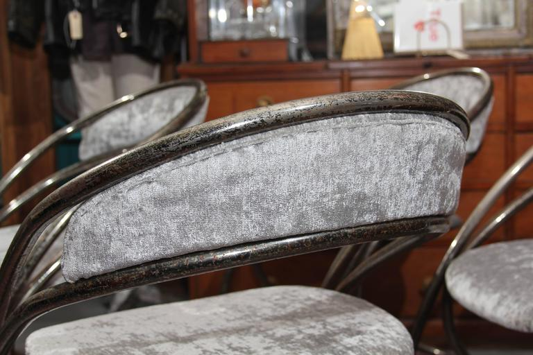 Set of Four French Casino Chairs For Sale 2