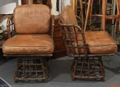 Pair of Maguire Swivel Chairs