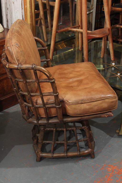 Pair of Maguire Swivel Chairs 4