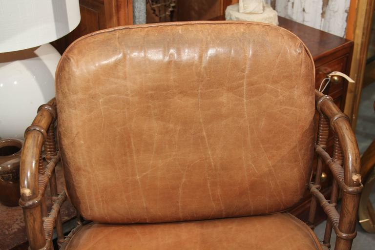 Pair of Maguire Swivel Chairs For Sale 4