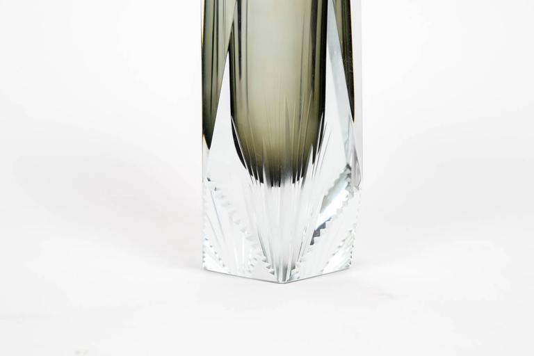 Elegant Pair of Sommerso Murano Glass Vases For Sale 1