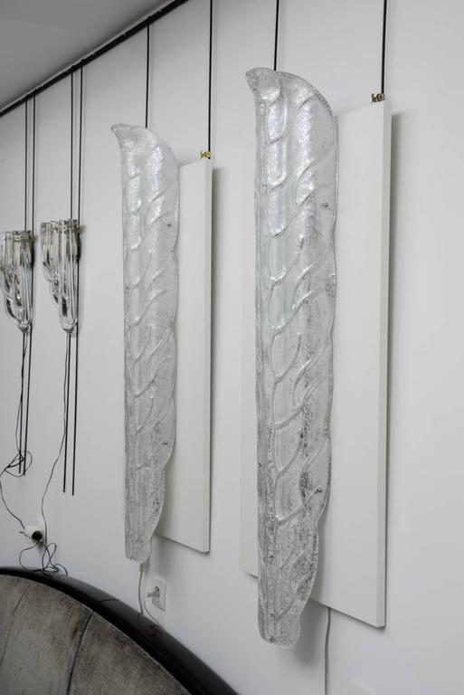 Spectacular Pair of Murano Glass Wall Sconces In Excellent Condition For Sale In Saint-Ouen, FR
