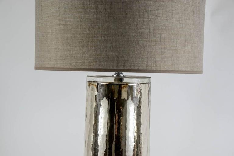 Mid-Century Modern Beautiful Pair of Eglomized Glass Table Lamps For Sale