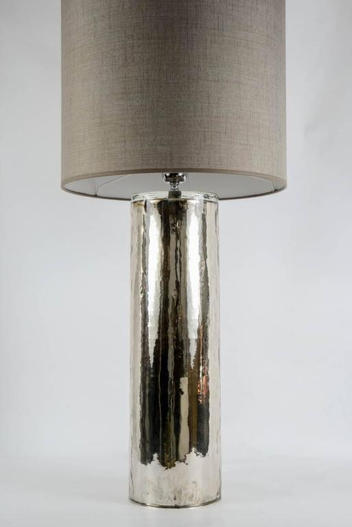 Italian Beautiful Pair of Eglomized Glass Table Lamps For Sale