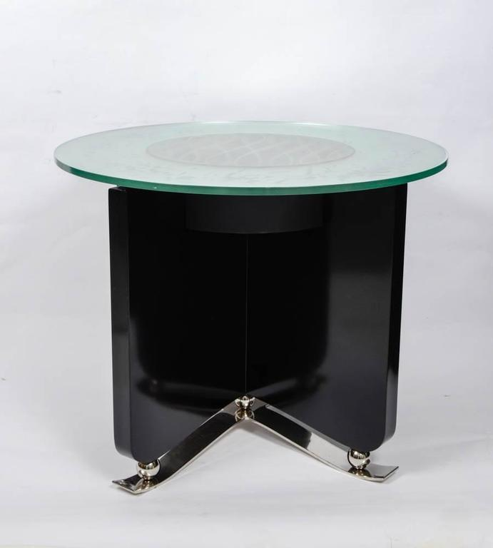Very rare art deco illuminating coffee table for sale at for Extremely exotic coffee tables