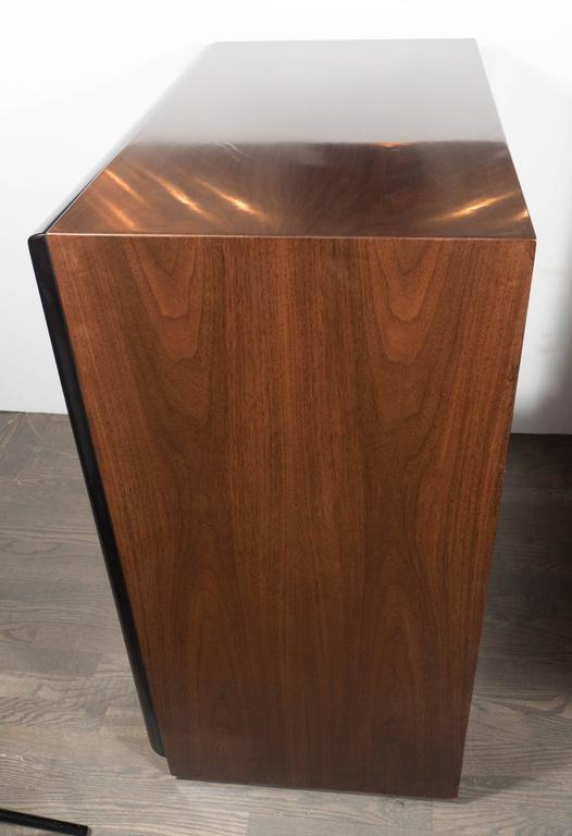 Mid-20th Century Mid-Century Modern Chest in Two-Tone Walnut by Robsjohn-Gibbings for Widdicomb For Sale